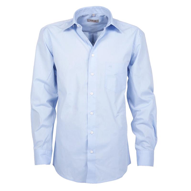 Arrivee Grote Maten Overhemd uni Lichtblauw