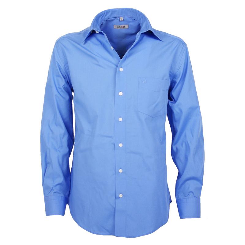 Arrivee Grote Maten Overhemd uni Blauw