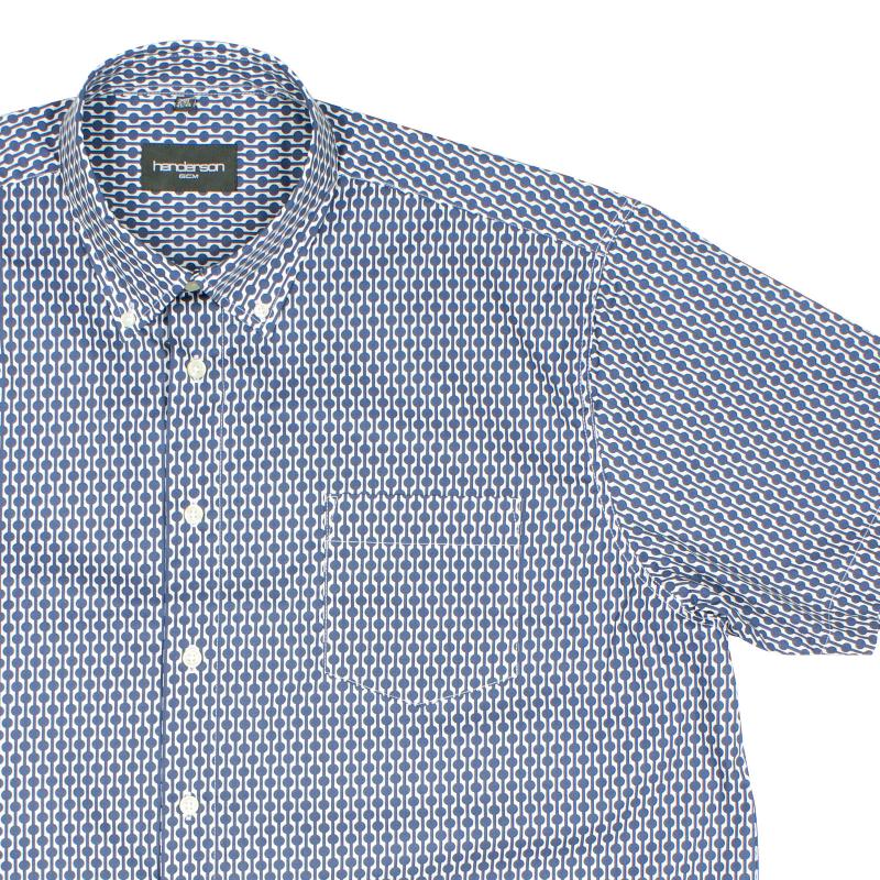 Kopen Henderson Donkerblauw 3957 Overhemd Bestel Maten Dessin Grote LqGSVUzpM