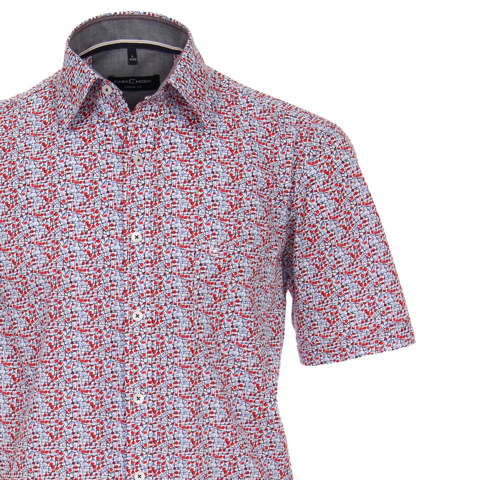 Maat Overhemd Heren.Grote Maten Overhemd Casa Moda Rood Met Blauw Dessin Kopen Bestel