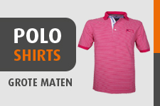 Poloshirts in grote maten herenmode