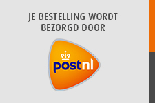 Uw bestelling word bezorgd door PostNL